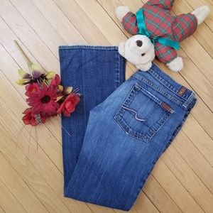 7 for all mankind boot cut gemstone jeans 31
